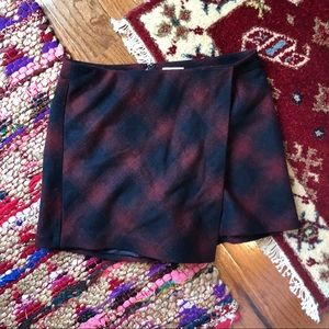 ➡️ final SALE!⬅️ plaid asymmetrical skirt